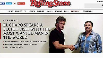 """El actor Sean Penn entrevistó en octubre al """"Chapo"""" cuando estaba prófugo"""