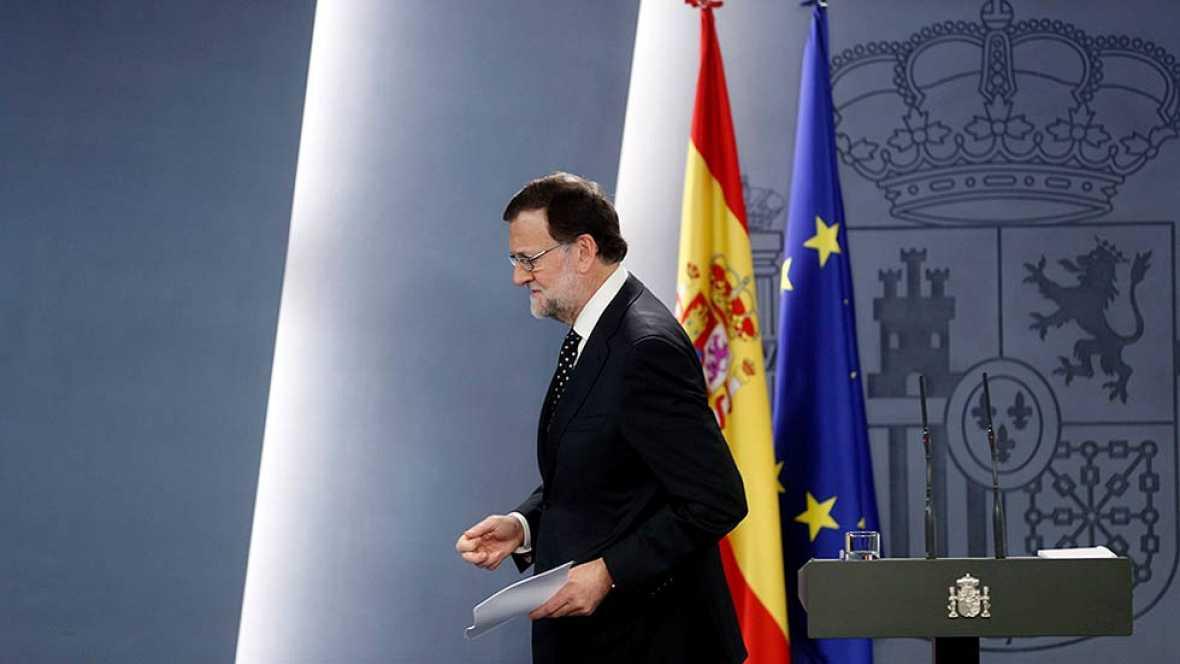 Intervención íntegra de Rajoy tras la declaración de Puigdemont