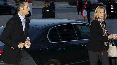 La infanta Cristina e Iñaki Urdangarín llegan juntos a la sede del juicio