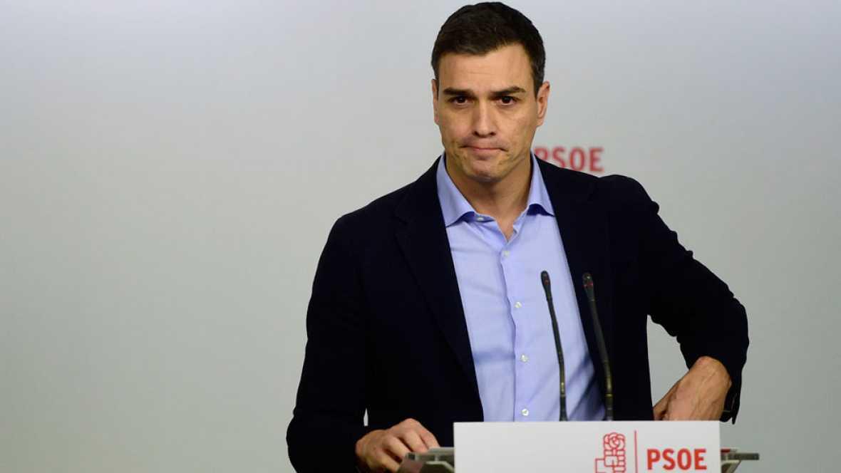 """Sánchez cree """"más necesario que nunca"""" un cambio de gobierno y buscará """"entenderse"""" con Ciudadanos y Podemos"""