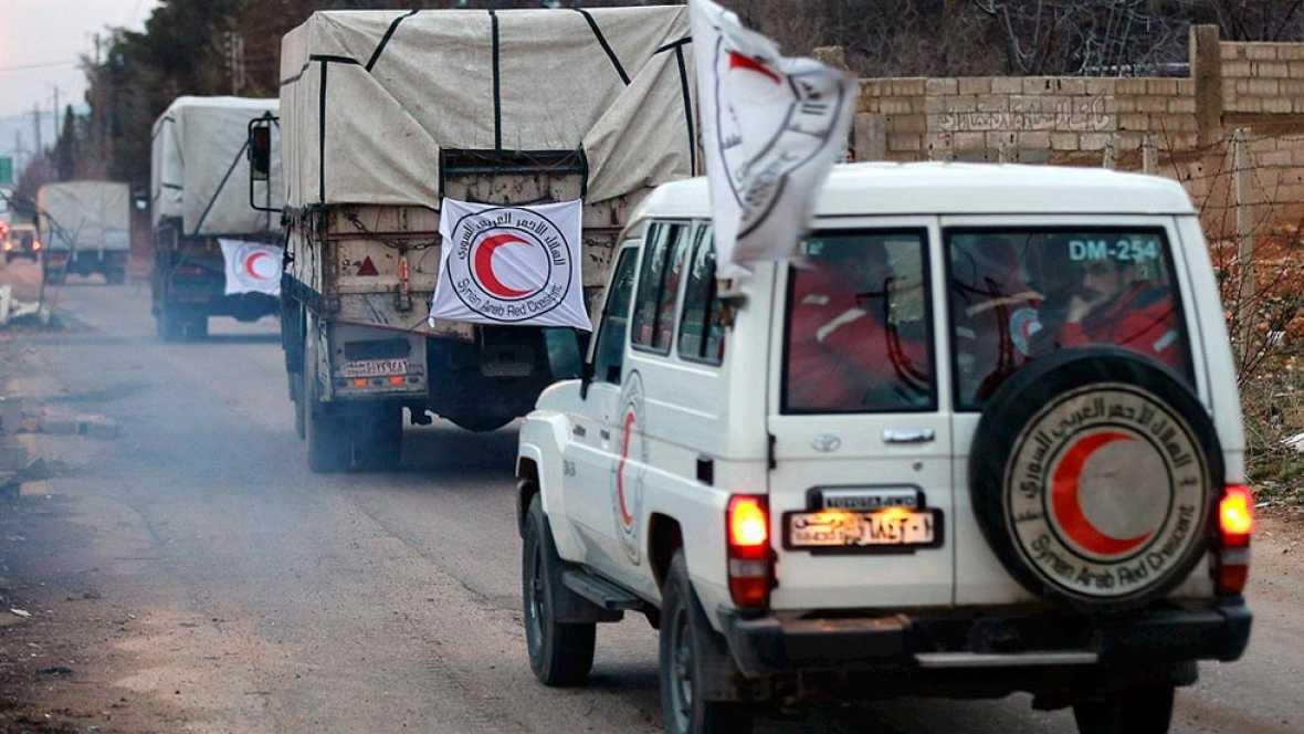 La comida empieza a llegar a Madaya y otras ciudades sirias asediadas y azotadas por el hambre