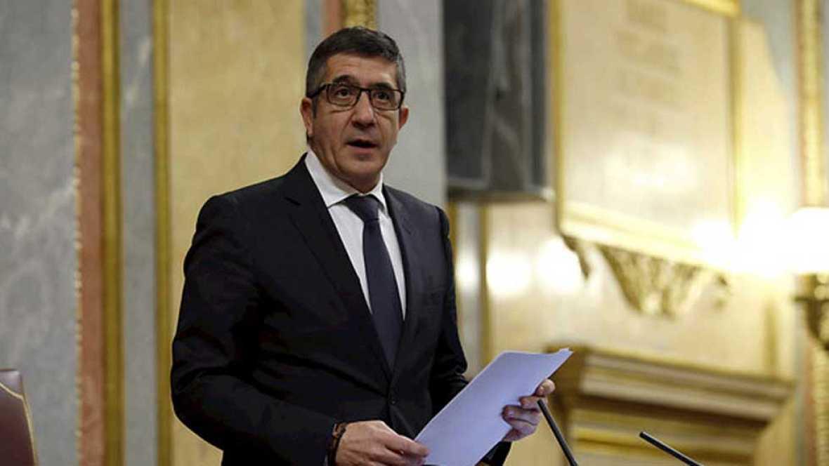 Patxi López, elegido presidente con los votos de PSOE y Ciudadanos