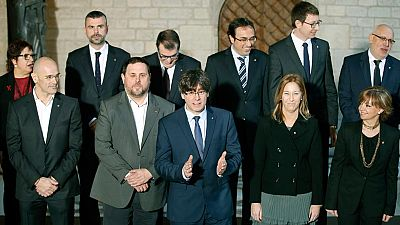 Puigdemont pide 'lealtad' a sus trece consejeros para cumplir el 'encargo de país'