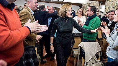 Cospedal acusa a Sánchez de poner en peligro la unidad del país