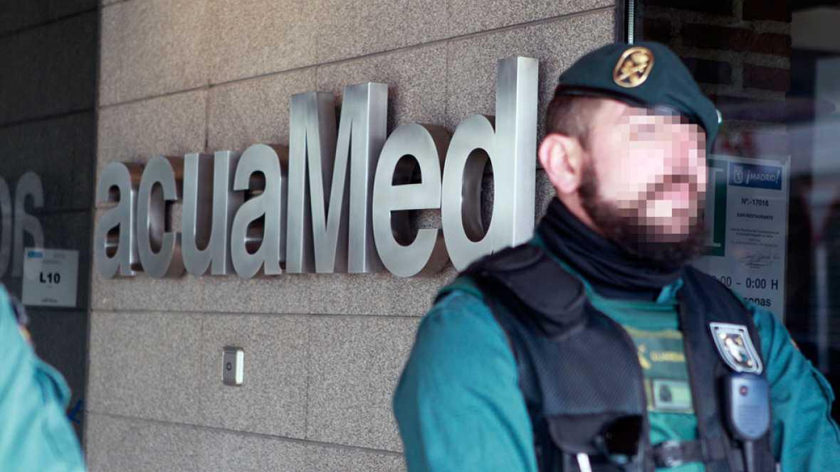 La Guardia Civil detiene a una decena de personas por presunto fraude en contratos en Acuamed