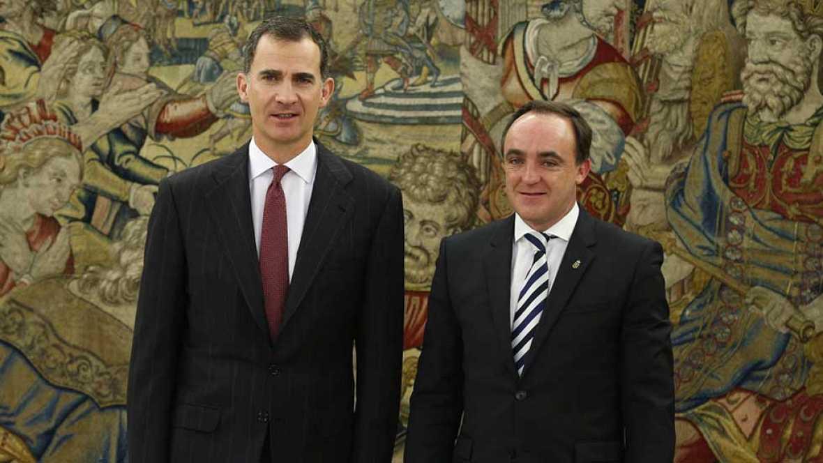 """Felipe VI recibe al presidente de UPN que ve al rey """"con mucha responsabilidad"""""""
