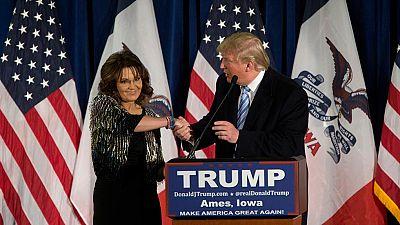 Sarah Palin anuncia su apoyo a Donald Trump para las primarias republicanas