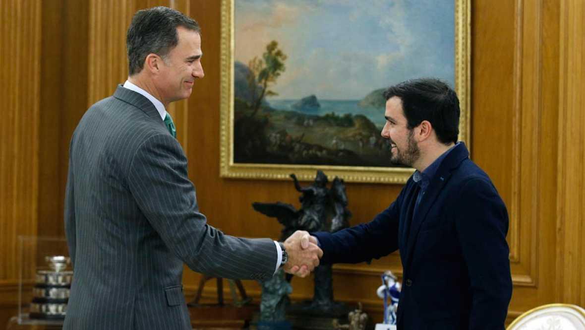 El rey recibe a Alberto Garzón en la ronda de consultas para la investidura