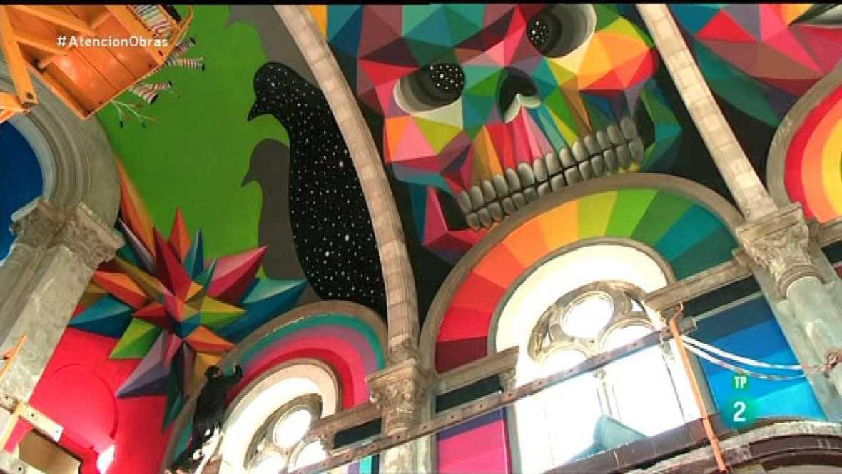 Atención Obras - Arte urbano en una iglesia