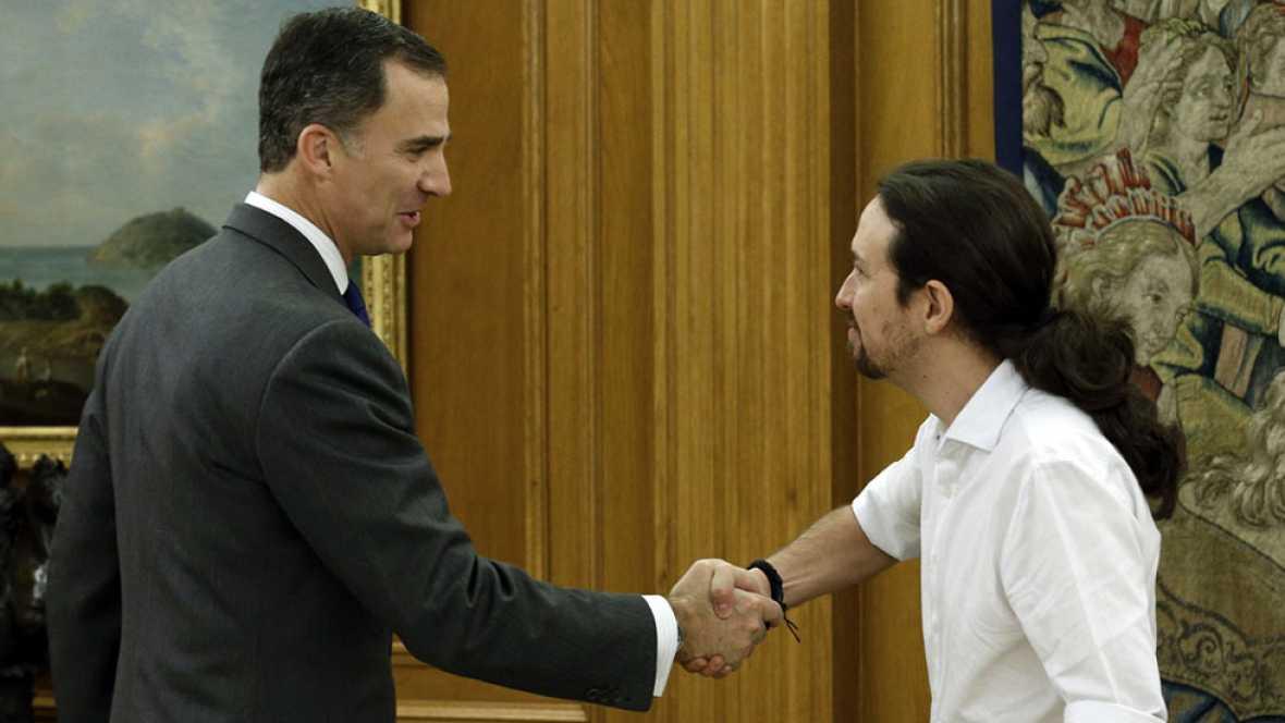 Pablo Iglesias propone un gobierno con PSOE e IU con él como vicepresidente