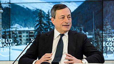 Draghi apoyará el crecimiento y Lagarde recibe apoyos en Davos