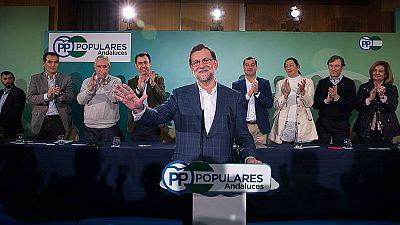 """Rajoy dice que PSOE, Podemos, IU y los nacionalistas no podr�n gobernar """"porque tenemos la mayor�a en el Senado"""""""