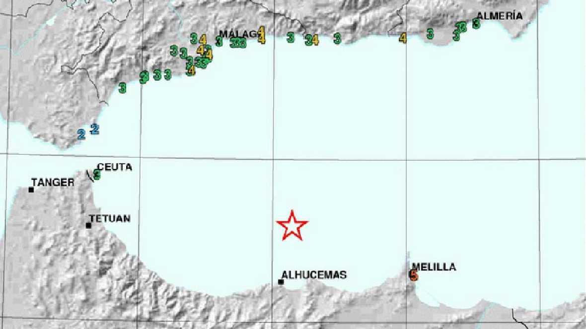Un terremoto de 6,3 de magnitud en el Mar de Alborán despierta Málaga y Melilla