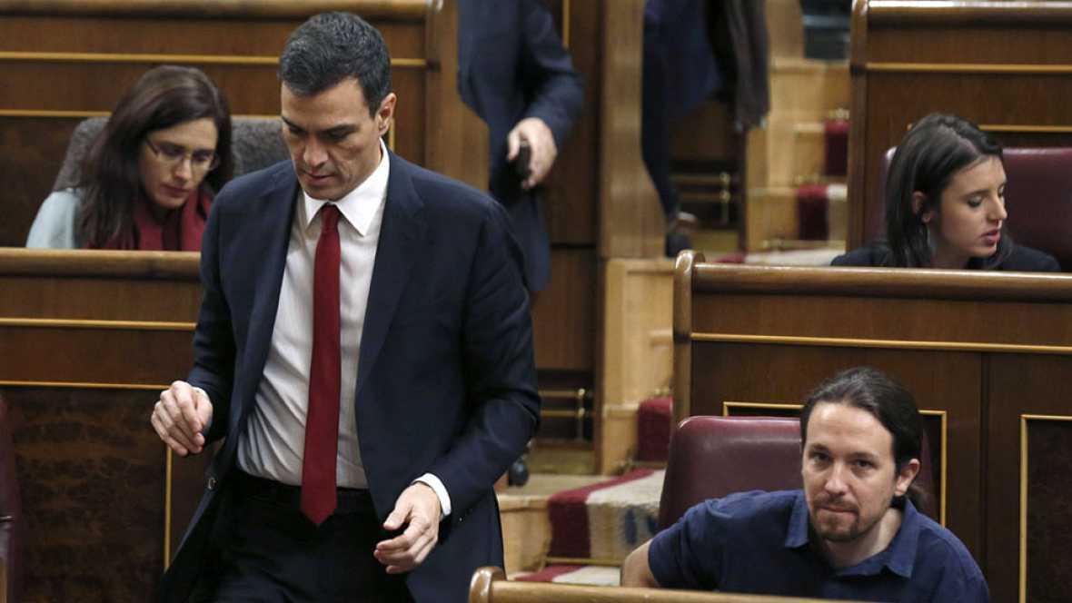 """Sánchez insiste en esperar el mandato del rey e Iglesias le pide """"no dilatar más el tiempo"""""""