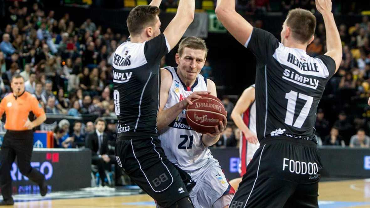 El Dominion Bilbao Basket se ha clasificado para la Copa del Rey que se jugará en febrero en A Coruña gracias a su victoria frente al Río Natura Monbus Obradoiro en Miribilla (88-83) y a los triunfos del Laboral Kutxa y del Real Madrid frente al Mora