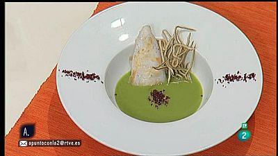 A punto con La 2 - Cocina a punto con Sergio Fern�ndez: crema de guisantes con falsos chanquetes