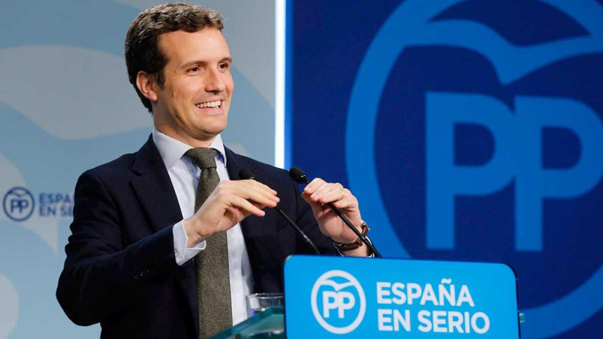 """Casado: """"Sánchez tiene que decir si  se sube al avión de Maduro con los proetarras, la CUP y Podemos"""""""