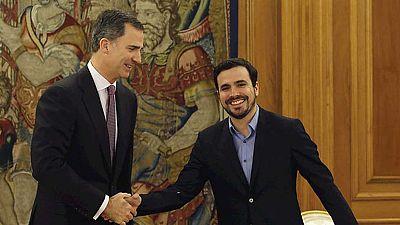 Garzón insiste en impulsar un gobierno de izquierdas tras hablar con el rey