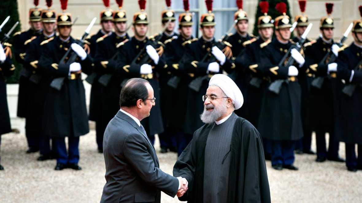 Francia e Irán han relanzado sus vínculos económicos durante la visita del presidente iraní, Hasán Rohaní, a París