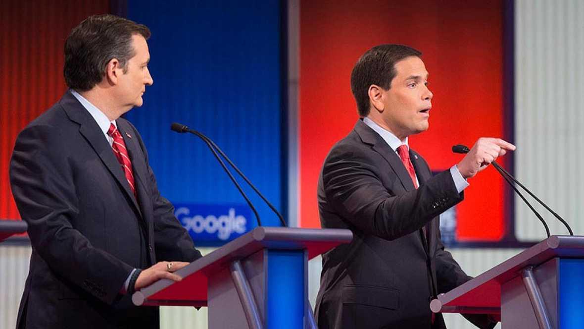 Rubio gana la partida en Cruz en un debate republicano sin Trump