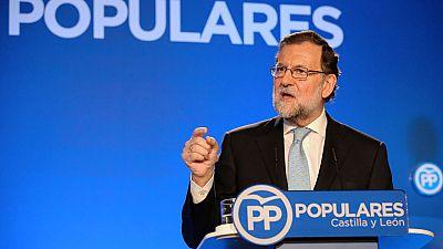 """Rajoy: """"El PP mantiene su candidatura porque es el partido más votado"""""""