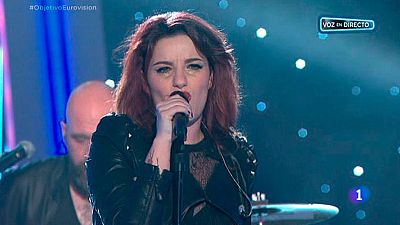 "Electric Nana canta ""Now"" en Objetivo Eurovisi�n"
