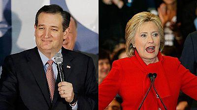 Ted Cruz da la sorpresa en Iowa mientras Clinton supera por décimas a Sanders
