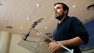 Garz�n ofrece a S�nchez el programa de IU para un Gobierno de cambio