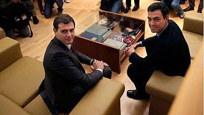 PSOE y Ciudadanos negocian sobre el empleo y la lucha contra la corrupción