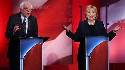Clinton y Sanders cruzan duras críticas y aprovechan su primer cara a cara para marcar sus diferencias