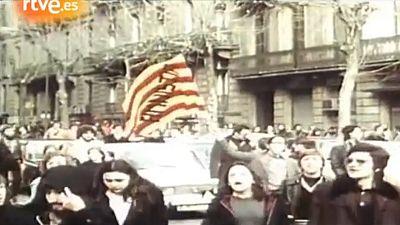 Arxiu TVE Catalunya - Marxa per l'amnistia l'1 de febrer de 1976 a Barcelona
