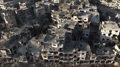 Un dron muestra la devastación en Homs, la 'capital' de la revolución siria