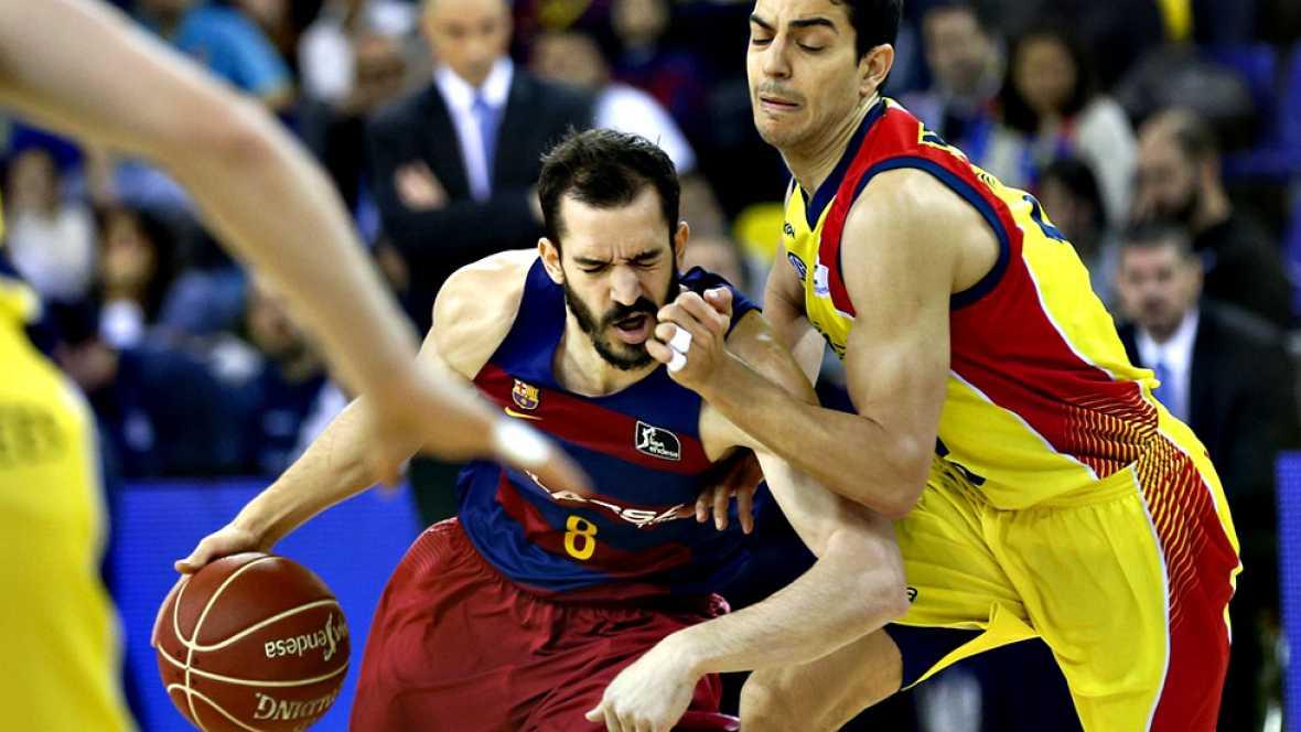 El FC Barcelona Lassa sigue a la caza del líder Valencia Basket tras vencer por 84-79 a un MoraBanc Andorra que puso las cosas difíciles. Perperoglou y Ribas (17) se crecieron tras la baja de Abrines.
