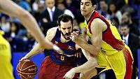 El FC Barcelona Lassa sigue a la caza del l�der Valencia Basket tras vencer por 84-79 a un MoraBanc Andorra que puso las cosas dif�ciles. Perperoglou y Ribas (17) se crecieron tras la baja de Abrines.