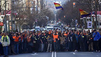 Manifestación de los trabajadores de ArcelorMittal en Bilbao
