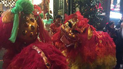 Los chinos celebran el nuevo a�o