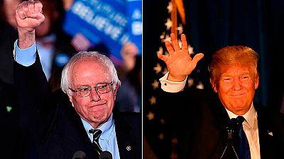 Sanders y Trump ganan con rotundidad las primarias de New Hampshire