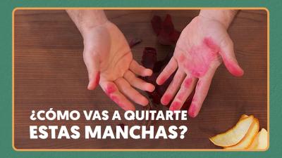 Trucos: Cómo limpiarse las manos de tinta de remolacha