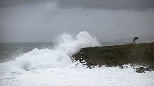 Viento fuerte y lluvia en Galicia y sistemas montañosos