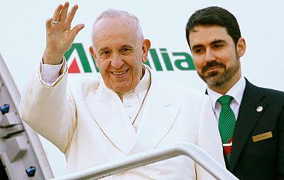 El papa Francisco parte hacia México con una escala previa en Cuba