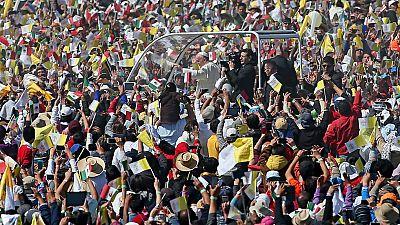 El papa Francisco oficia una misa multitudinaria en Ecatepec