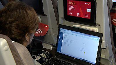 El nuevo A330/200 de Iberia ofrece internet de mayor velocidad para sus pasajeros