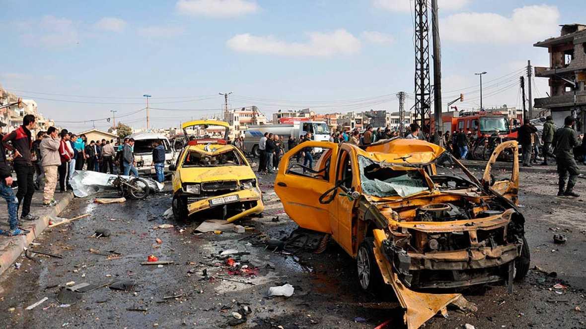 Decenas de muertos en dos atentados en la ciudad siria de Homs
