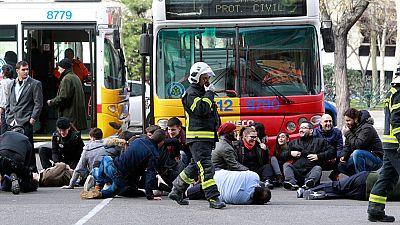 Simulacro de accidente con numerosas víctimas en Madrid