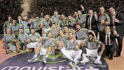 El Real Madrid de Pablo Laso ha sumado un nuevo título tras la consecución de su tercera Copa del Rey consecutiva al derrotar en la final al Herbalife Gran Canaria por 81-85.