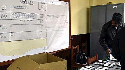 Discrepancia sobre los resultados del referéndum en Bolivia
