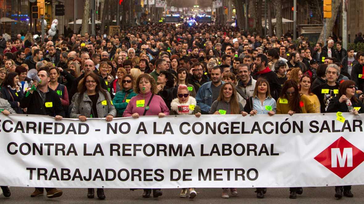 La huelga del Metro de Barcelona marca el inicio del Mobile World Congress