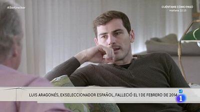 """La muerte de Luis Aragonés, un """"palo"""" para Iker Casillas"""
