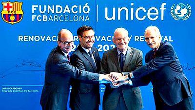 El FC Barcelona y el Fondo de las Naciones Unidas para la Infancia (Unicef) han formalizado la ampliación de su contrato de colaboración, que expiraba este año, a razón de una aportación anual de 2 millones de euros por parte del club catalán hasta 2