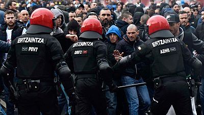 Graves incidentes entre aficionados del Athletic y del Olympique de Marsella